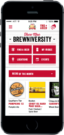 Taco Mac Brewniversity Iphone